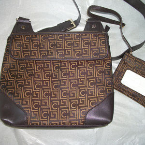 Liz Claiborne  crossbody canvas  purse w wallet